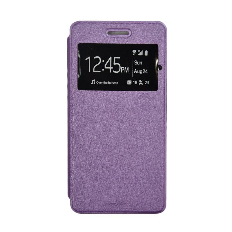 SMILE Standing Flip Cover Casing for Samsung Galaxy J5 - Purple