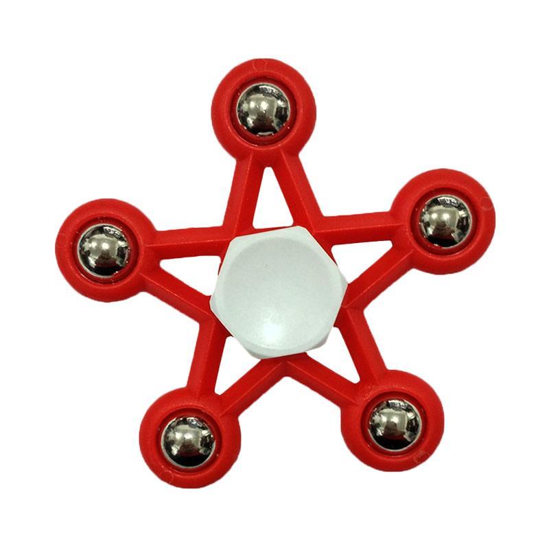 Aimons Focus Toys Games Bentuk Bintang Fidget Spinner - Merah