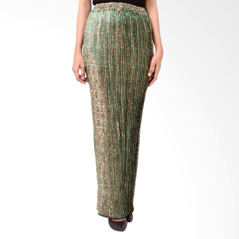 harga Batik Distro R1207 Lipit Songket Panjang Rok Wanita - Hijau Blibli.com