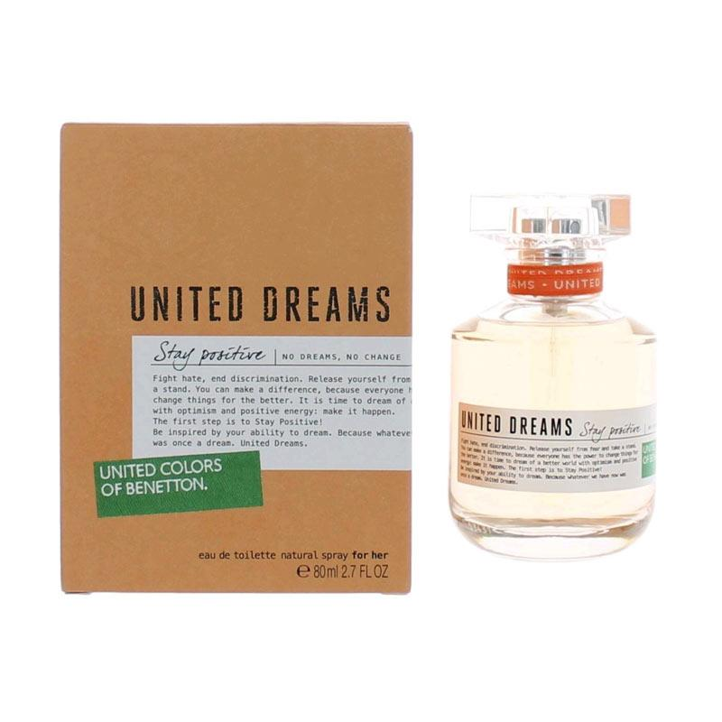Benetton United Dreams Stay Positive EDT Parfum Wanita [80 mL]
