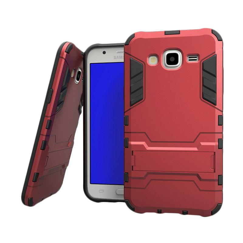 OEM Transformer Robot Iron Man Casing for Samsung Galaxy J7 2015 - Red