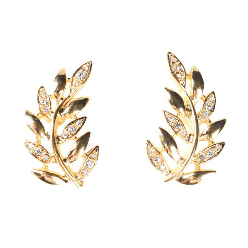 1901 Jewelry GW.2505.HR43 Anting Leaf Studs 2505 Giwang - Gold [Lapis Emas 24K]