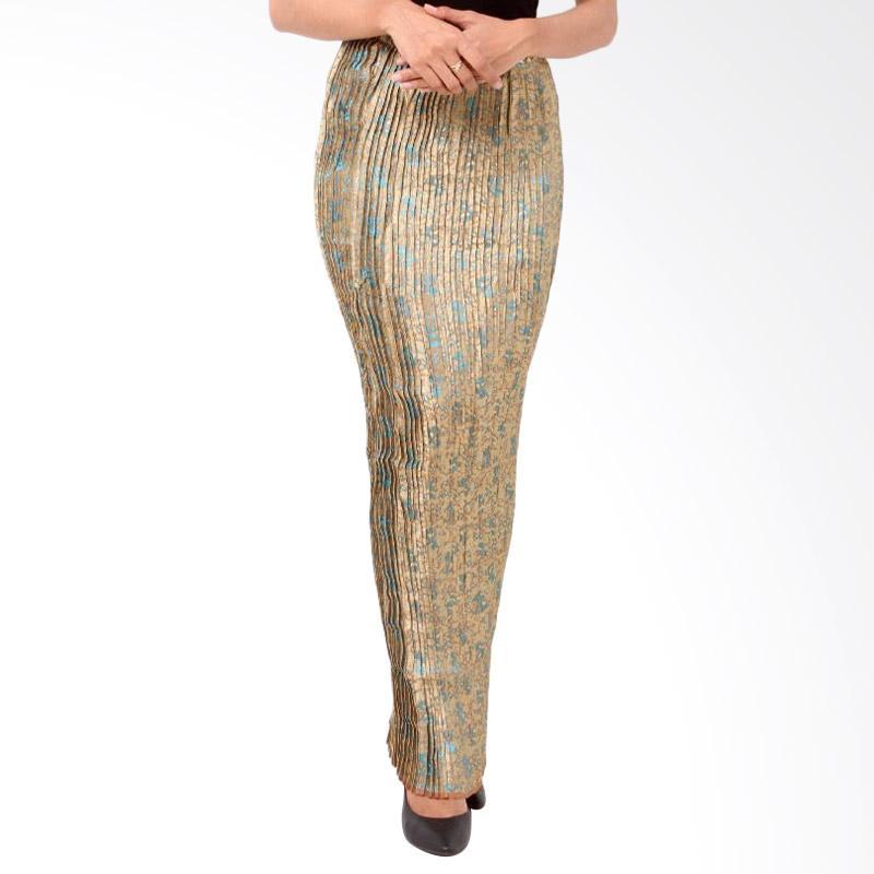 harga Batik Distro R1209 Lipit Songket Panjang Rok Wanita - Hijau Blibli.com