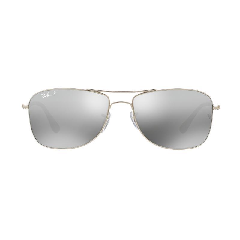 Ray-Ban RB3543 003-5J Sunglass [Size 59/Shiny Silver Frame/Grey Mirror Silver Polar Lens]