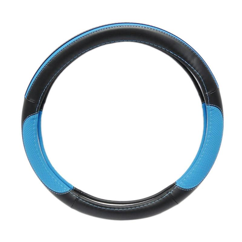 SIV 5238 Steering Wheel Cover Sarung Stir Mobil Import - Blue Black