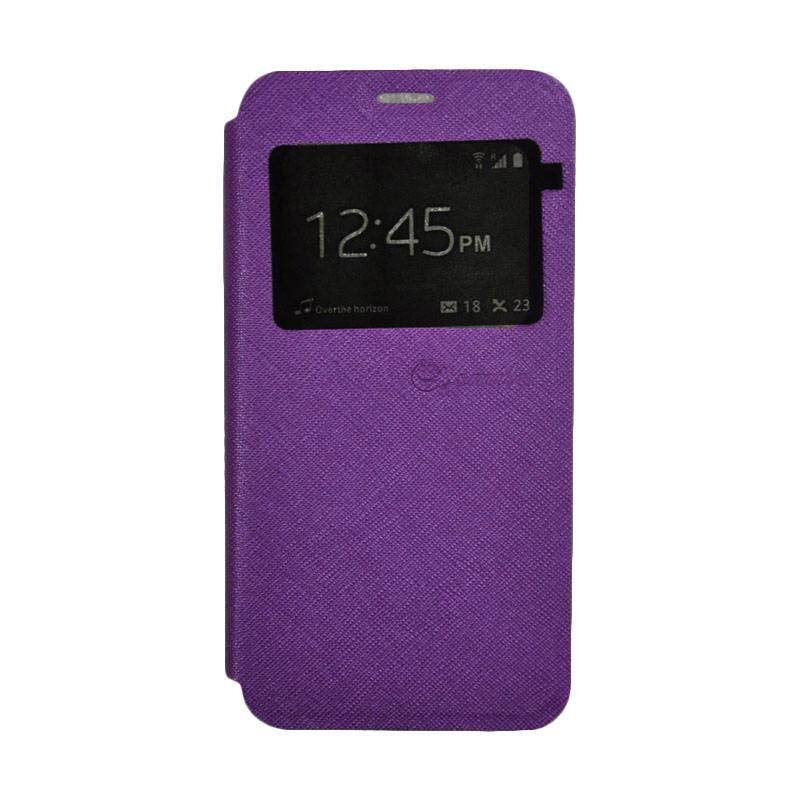 SMILE Standing Flip Cover Casing for Samsung Galaxy A5 2017 - Purple