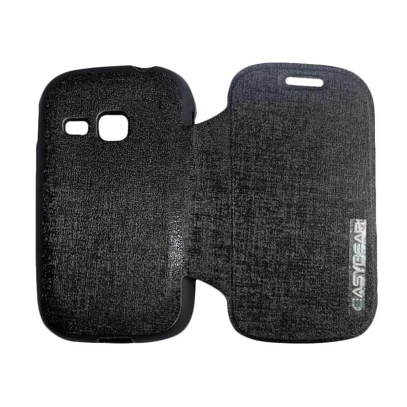 harga Easybear Flip Cover Casing for Samsung Galaxy Young S6310 - Black Blibli.com