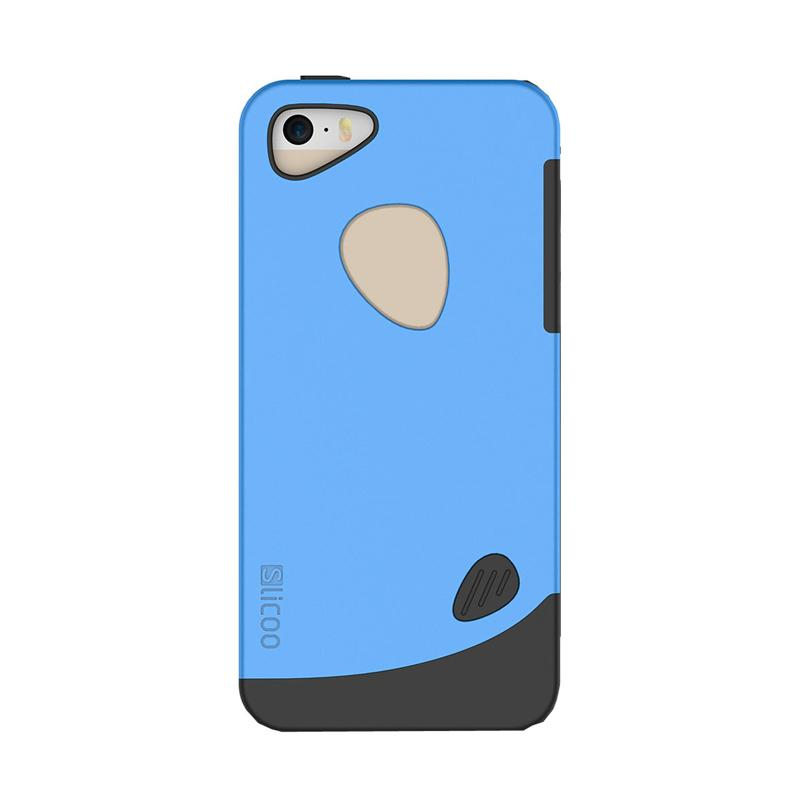 Slicoo Frosted Back Side Hardcase Casing for Apple iPhone 6 Plus - Blue