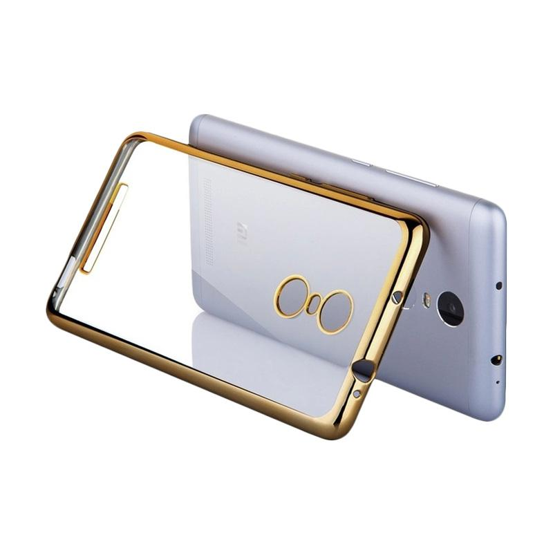 OEM Shining Chrome Softcase Casing for Xiaomi Redmi Note 3 Pro - Gold