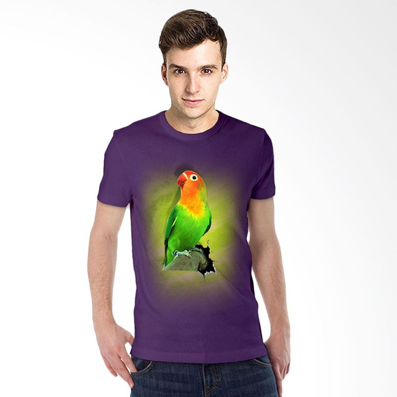 harga T-Shirt Glory Kaos 3D Burung Love Bird Fold Ungu Tua Blibli.com