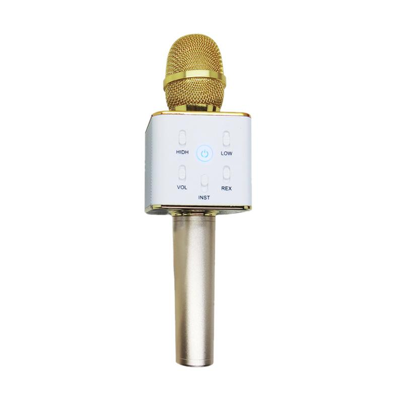 Tuxun Q7 Microphone Speaker Bluetooth for Smule - Gold/Silver
