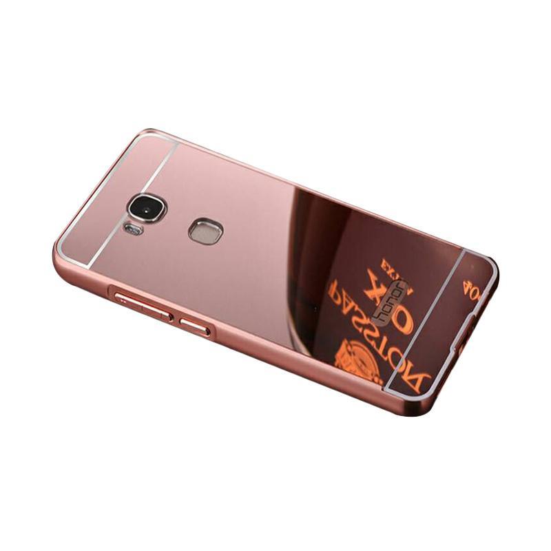 Bumper Case Mirror Sliding Casing for Huawei GR5 - Rose Gold