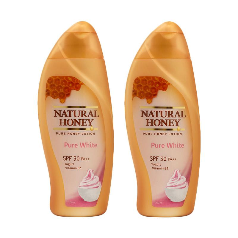Natural Honey Pure White Hand and Body Lotion [200 mL/ 2 pcs]