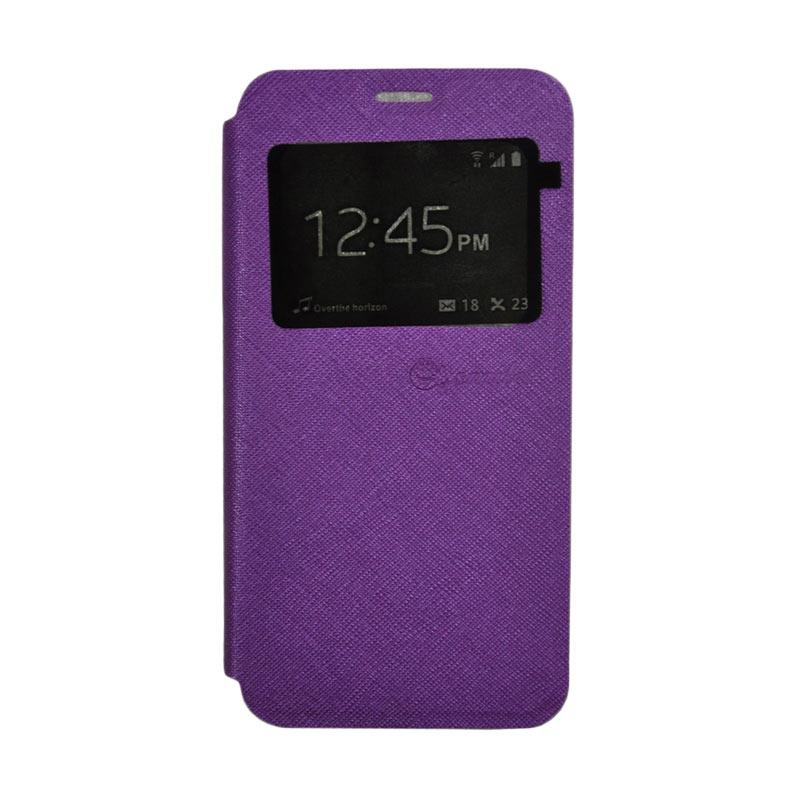 SMILE Standing Flip Cover Casing for Samsung Galaxy A7 2017 - Purple