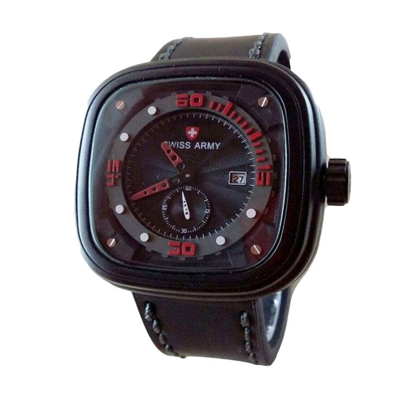 Swiss Army SA 4096 BR Jam Tangan Pria - Black Red