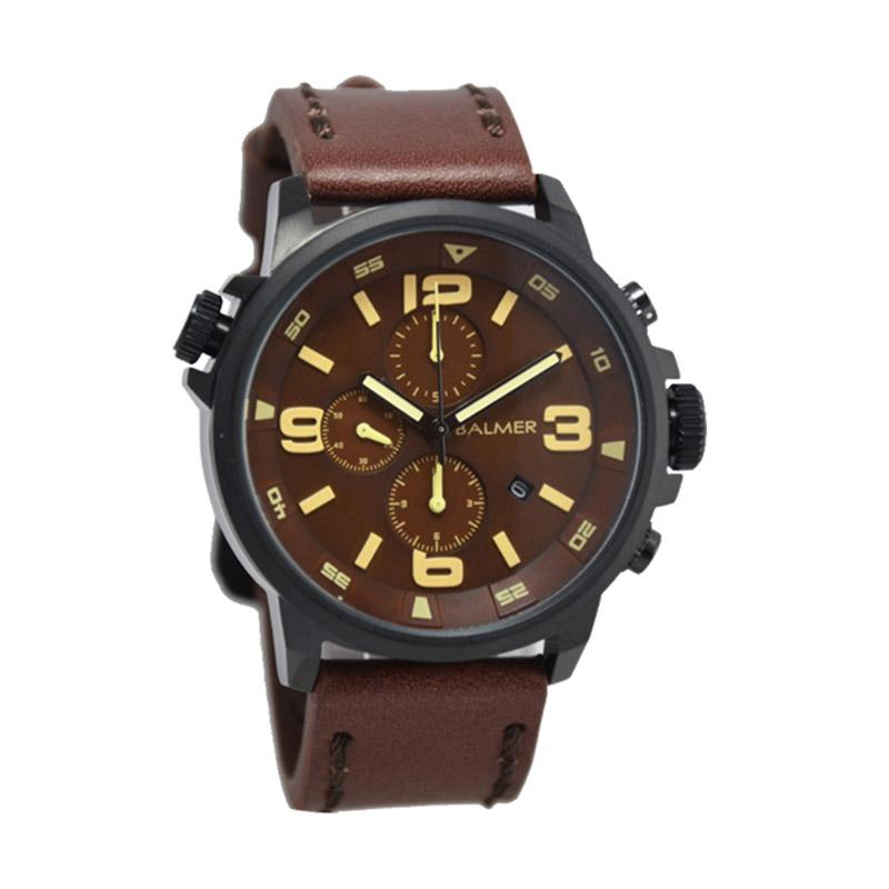 Balmer D47H615BL7903MRCKTRG Chronograph Leather Strap Jam Tangan Pria