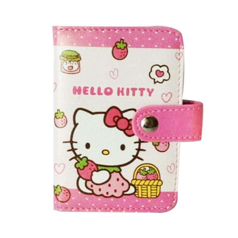 Hello Kitty HK Strawberry Dompet Kartu - Putih Pink