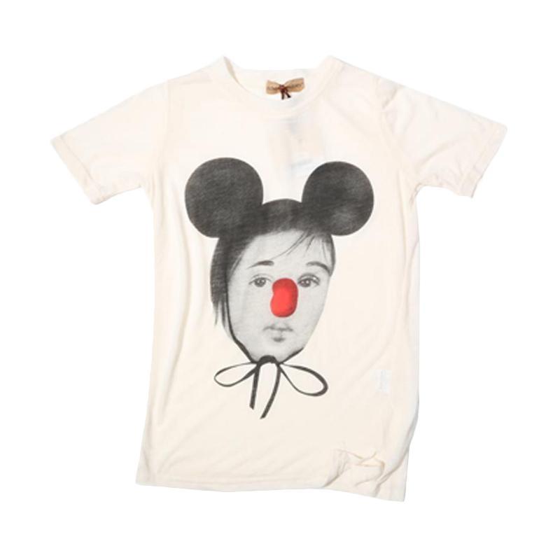 Adel & Audrey Top Shirt 076 Mickey Atasan Anak Perempuan - White