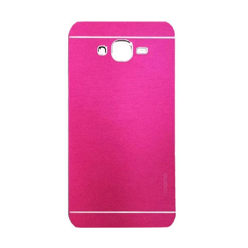 Motomo Metal Hardcase Casing for Samsung Galaxy J7 or J700F - Pink