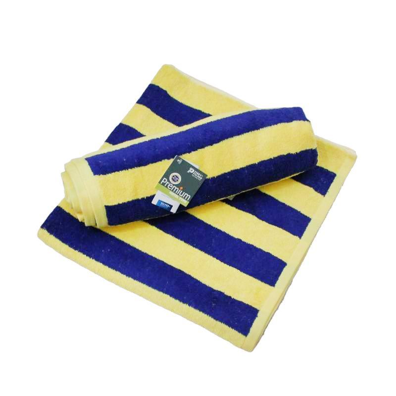 Terry Palmer Premium Pool Towel - Kuning Biru [85 x 160 cm]