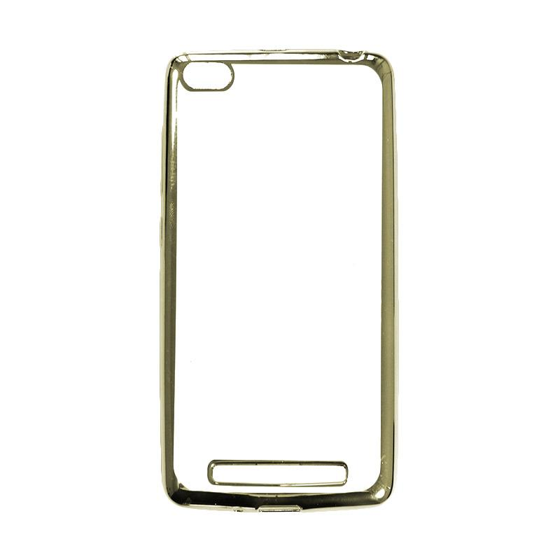 OEM Shining Chrome Softcase Casing for Huawei Honor 4C 5 Inch - Silver