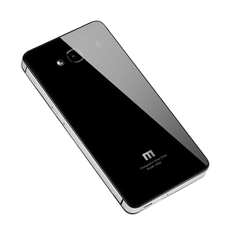 harga Jagostu Back Door Glass Hardcase Casing for Xiaomi Redmi 2 Prime - Black Grey Blibli