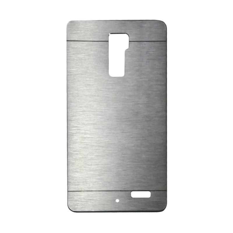Motomo Metal Hardcase Backcase Casing for OPPO R7 Plus - Silver
