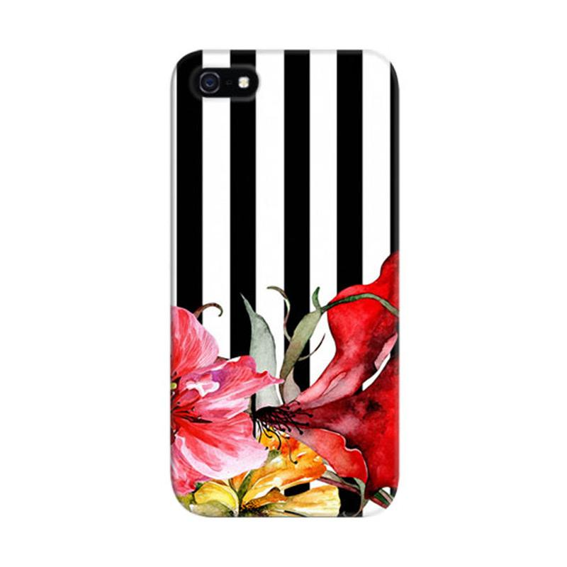 Indocustomcase Floral Botanica Custom Hardcase Casing for Apple iPhone 5/5S/SE