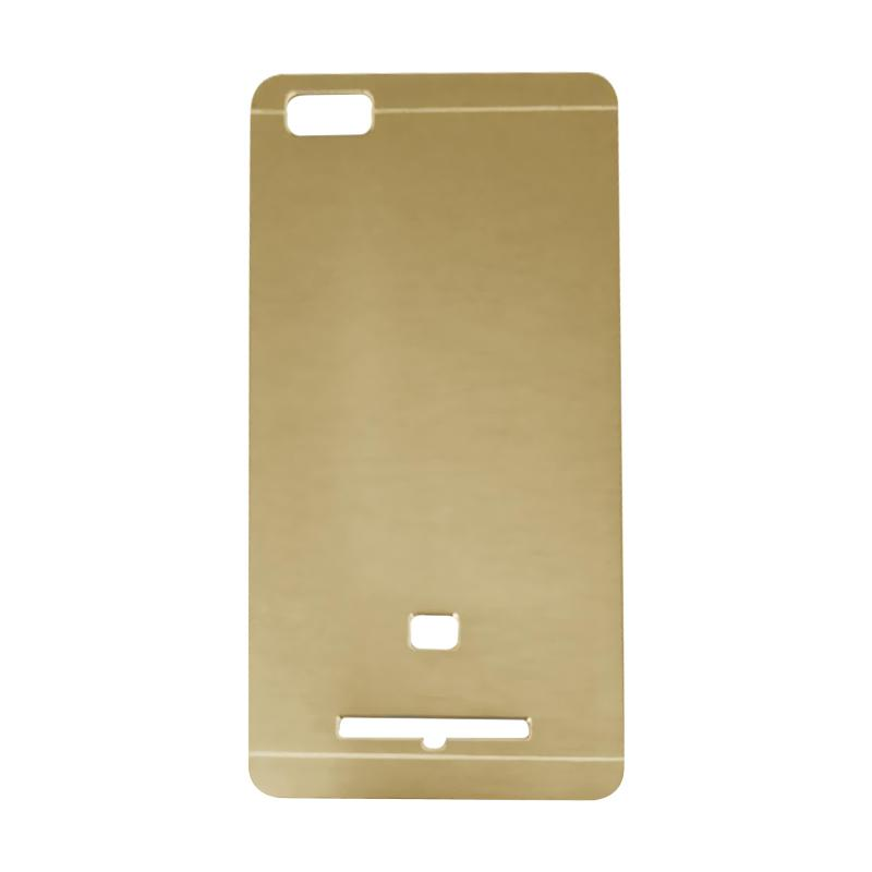 Motomo Metal Hardcase Backcase Casing for Xiaomi Mi4i or Mi 4i - Gold