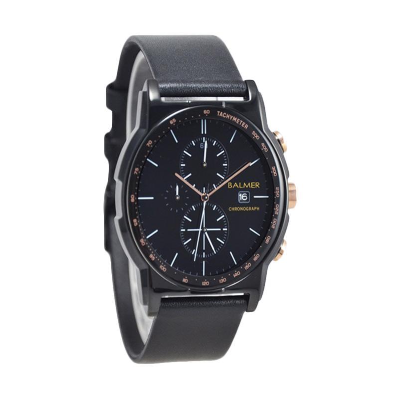 Balmer Chronograph D46H580BL7931MHTM Date Leather Strap Jam Tangan Pria