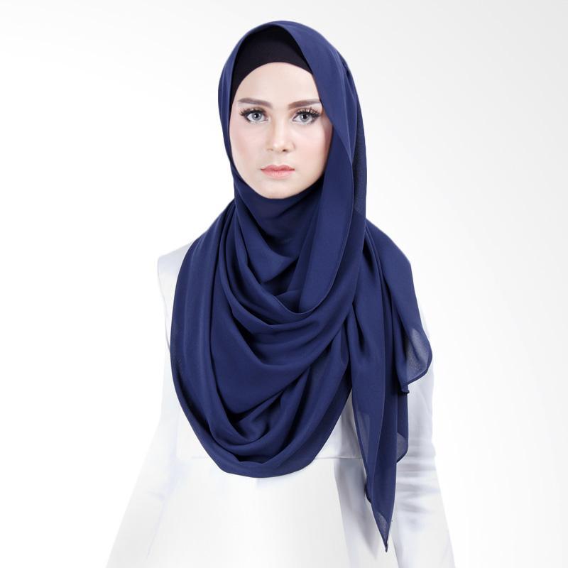 Cantik Kerudung Scarlett  Instant Shawl - Navy Blue