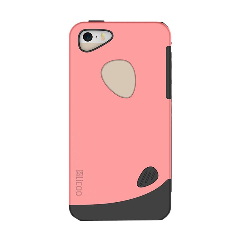 Slicoo Frosted Back Side Hardcase Casing for Apple iPhone 6 Plus - Pink