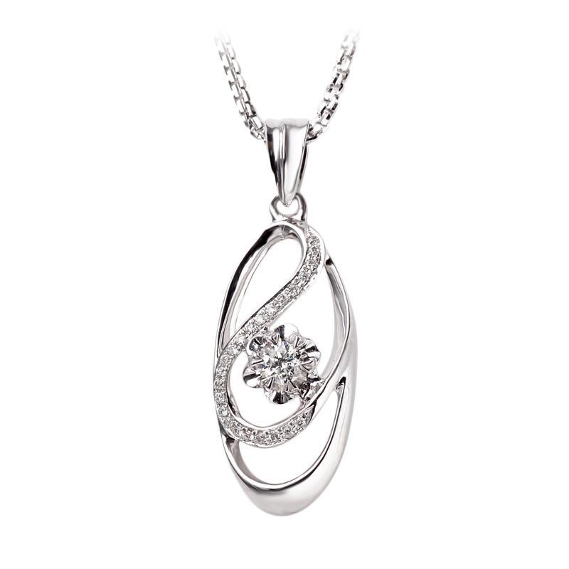 Tiaria DAKADZ004 Perhiasan Liontin Emas Putih [18K]