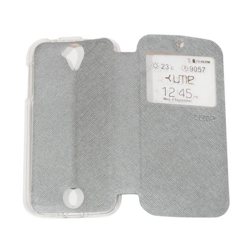 harga Ume Flipshell Flip Cover Casing for Acer Liquid Z320 / Z330 - Silver Blibli.com