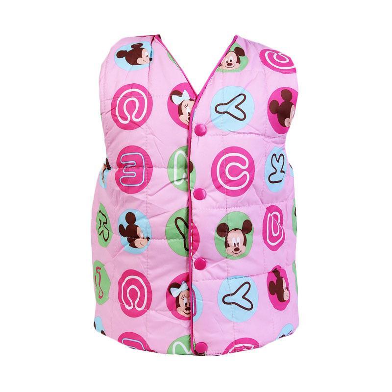 Chloe Babyshop F986  Bubble Alphabet Mickey Jaket Rompi - Pink