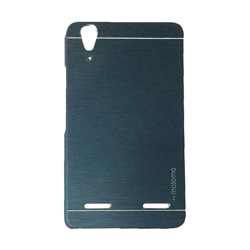 Motomo Metal Hardcase Backcase Casing for Lenovo A6000 or K3 - Dark Blue