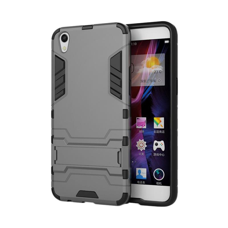 OEM Transformer Robot Iron Man Casing for Oppo F1 Plus or R9 - Black