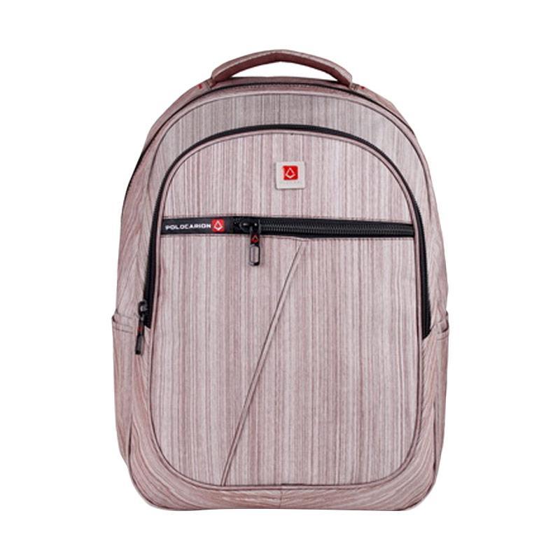 Polo Carion 730047 Tas Ransel Laptop - Coklat [30 Liter] + Raincover