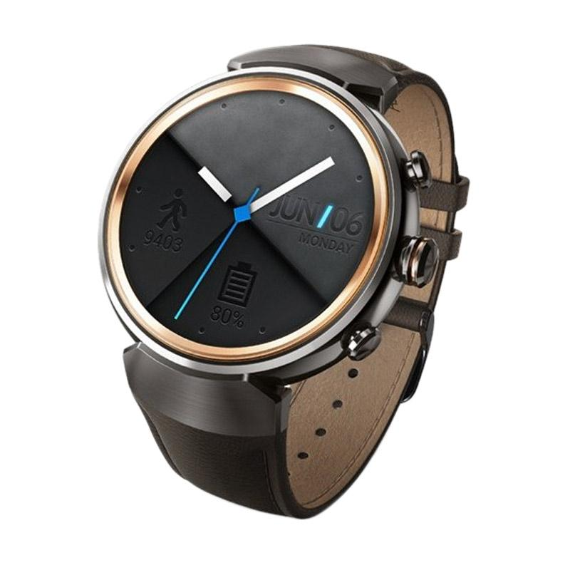 harga Asus Zenwatch 3 Leather Dark Brown Strap Smartwatch - Gunmetal Blibli.com
