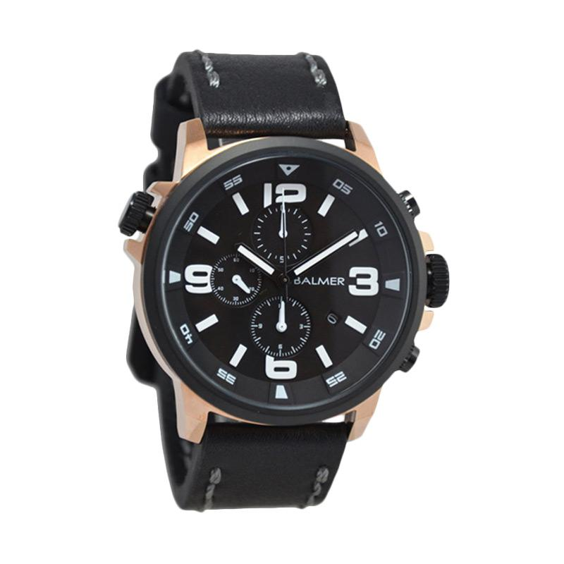 Balmer D47H615BL7903MRHTMRG Leather Strap Chronograph Jam Tangan Pria