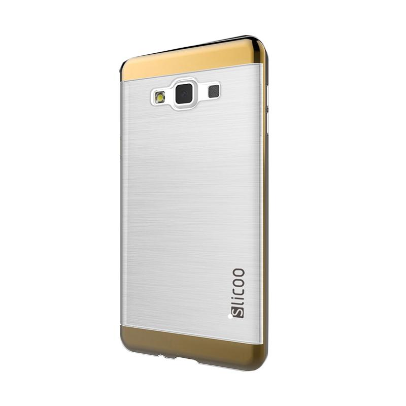 Slicoo Clear Side Cover Hardcase Casing for Samsung Galaxy A7 - Cokelat