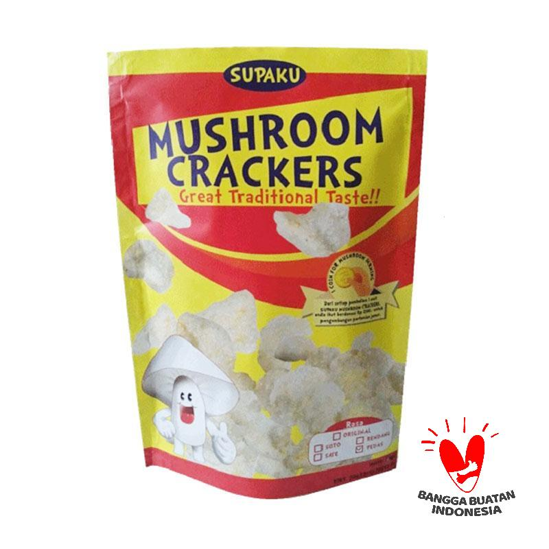 Supaku Mushroom Crackers Kerupuk Jamur Tiram Rasa Soto