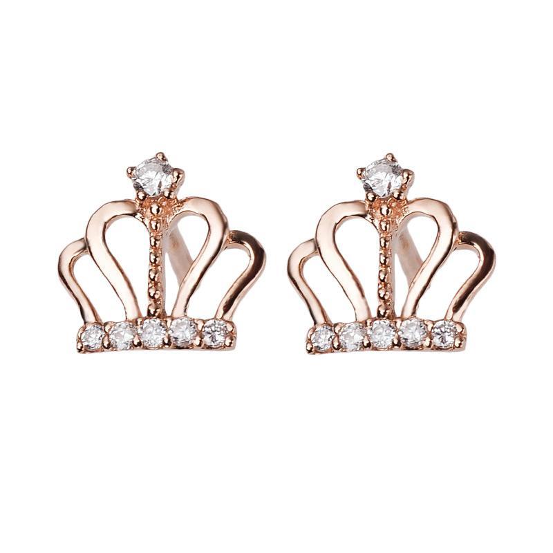 Tiaria DMKMED001 Perhiasan Emas Putih and Berlian Anting - White Gold [18K]