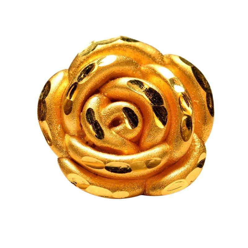 Tiaria Golden Rose Flower Gold Charm Pendant 24K Bandul Bunga Mawar