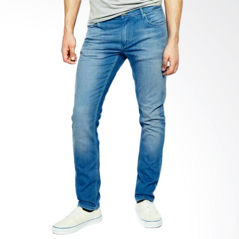 Underpego Jeans Nakent Skinny Celana Panjang Pria - Biru Muda