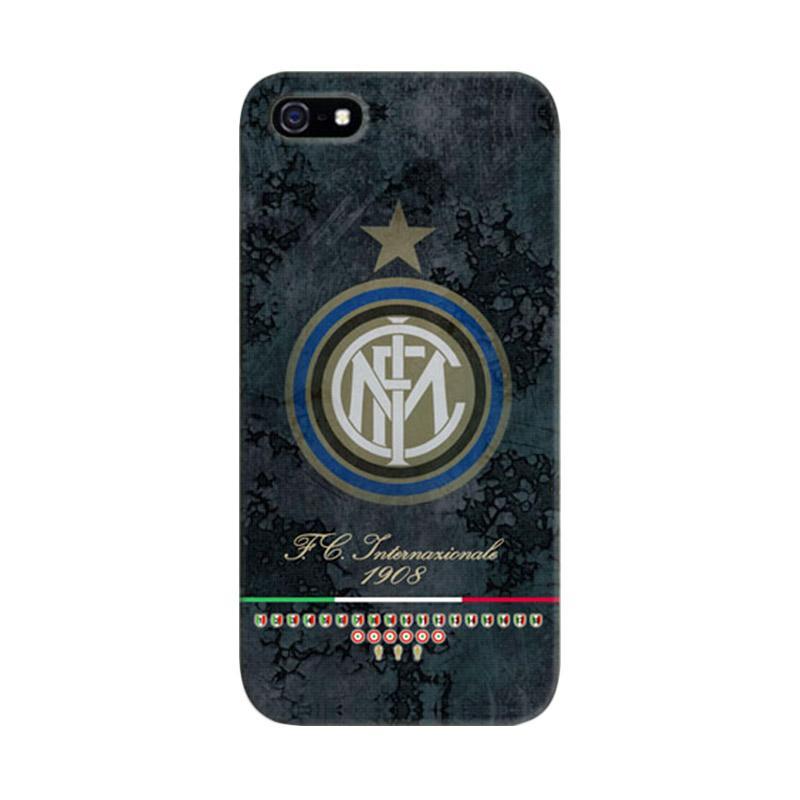 Indocustomcase Inter Milan FC Vintage Logo Cover Casing for iPhone 5/5S/SE