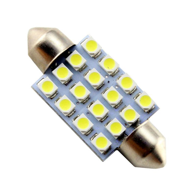 JMS Festoon 16 SMD 1210 Lampu LED Mobil Kabin Dan Plafon - White [41 Mm/ 1 Pair/ 2 Pcs]