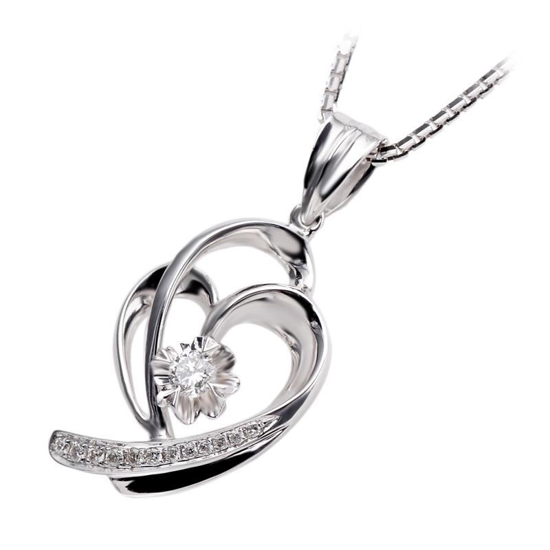 Tiaria DAKADZ008 Perhiasan Liontin Emas Putih [18K]