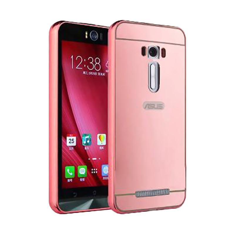Bumper Mirror Sliding Casing for Asus Zenfone Selfie - Rose Gold