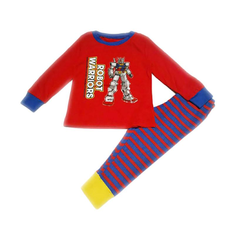 Chloebaby Shop F785 GW Led Flashing Robbot Warrior Pajamas - Red
